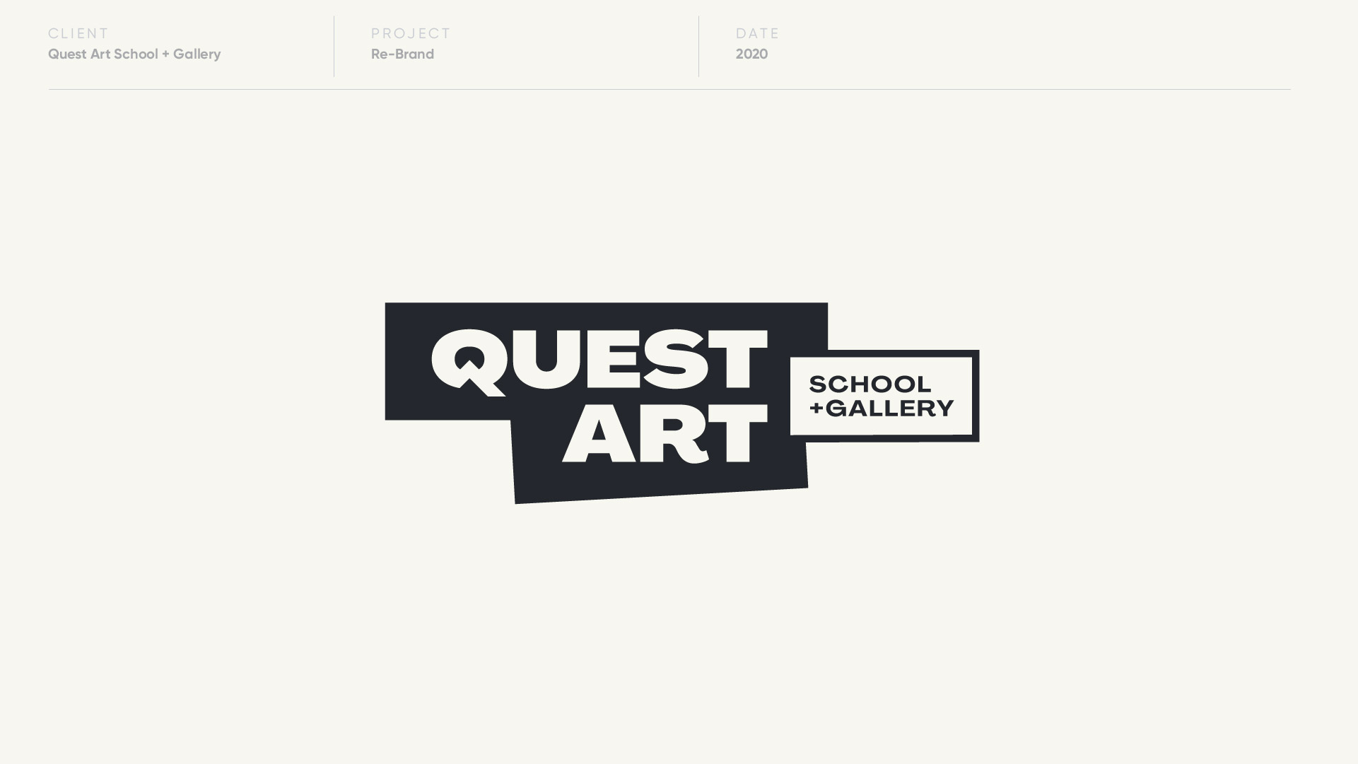 quest art logo designed by anthony mika