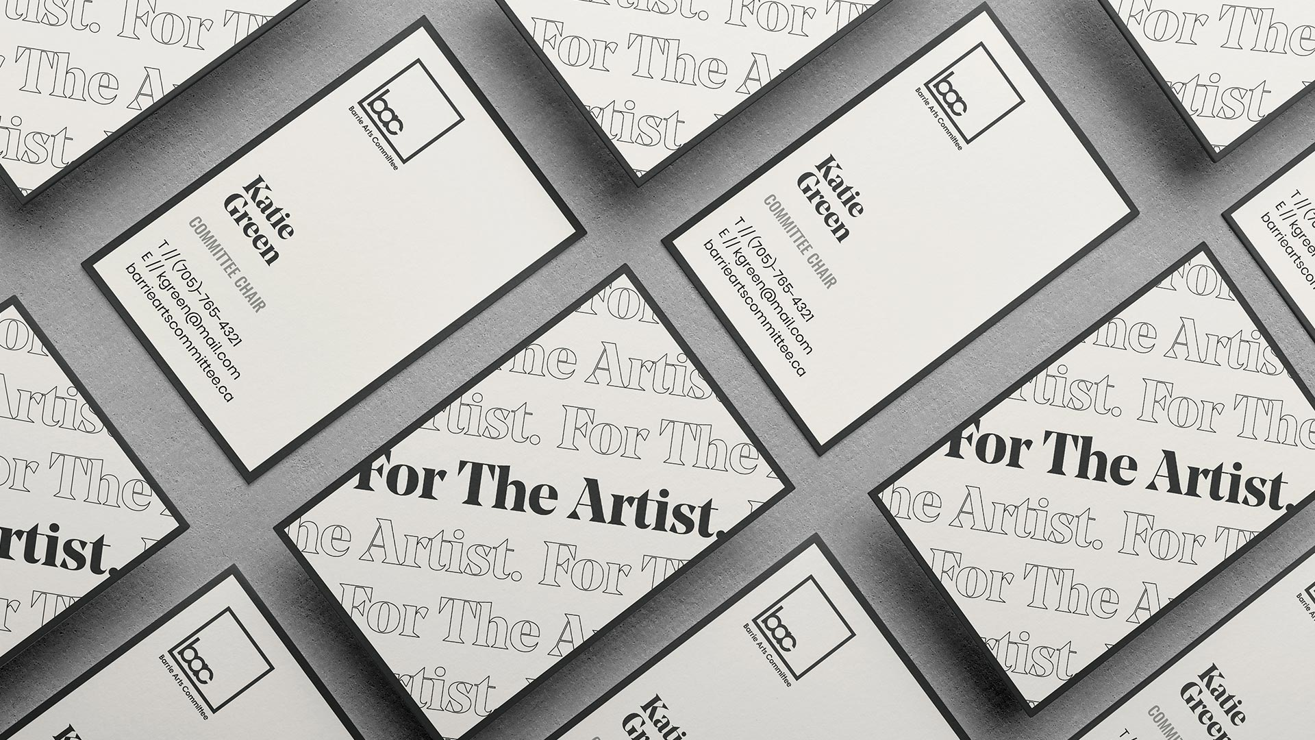barrie arts committee business cards