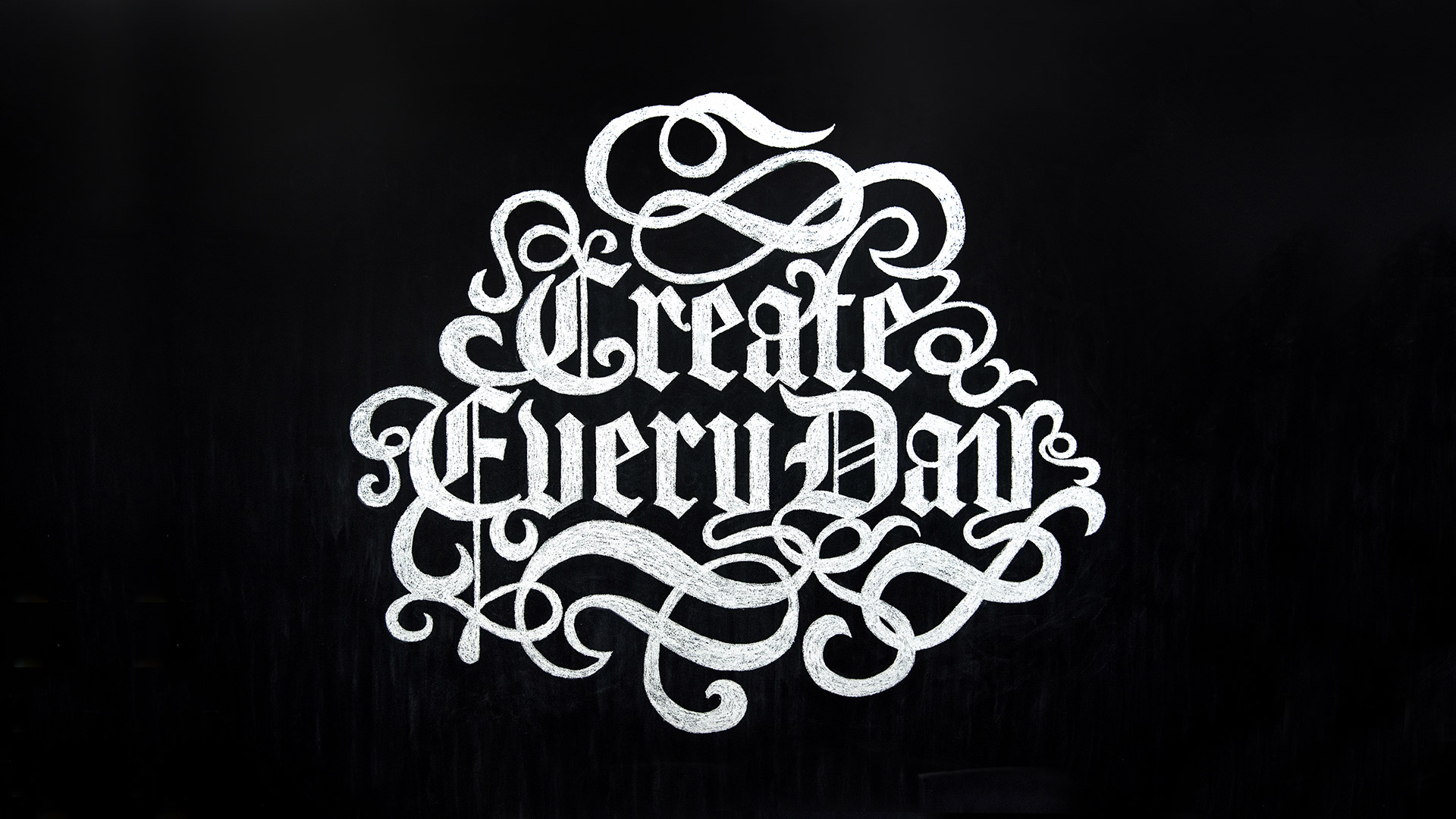 create every day chalk mural