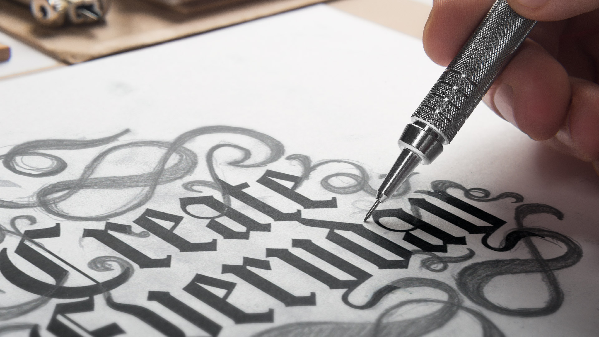 create every day hand drawn design concept
