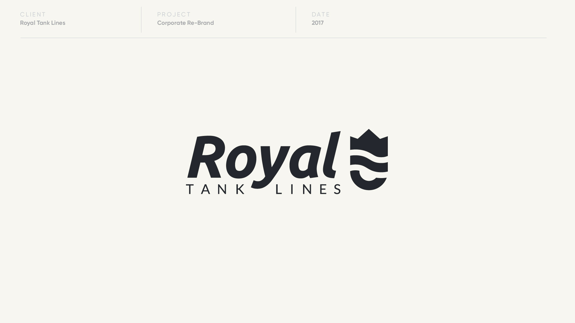 royal tank lines logo design by anthony mika