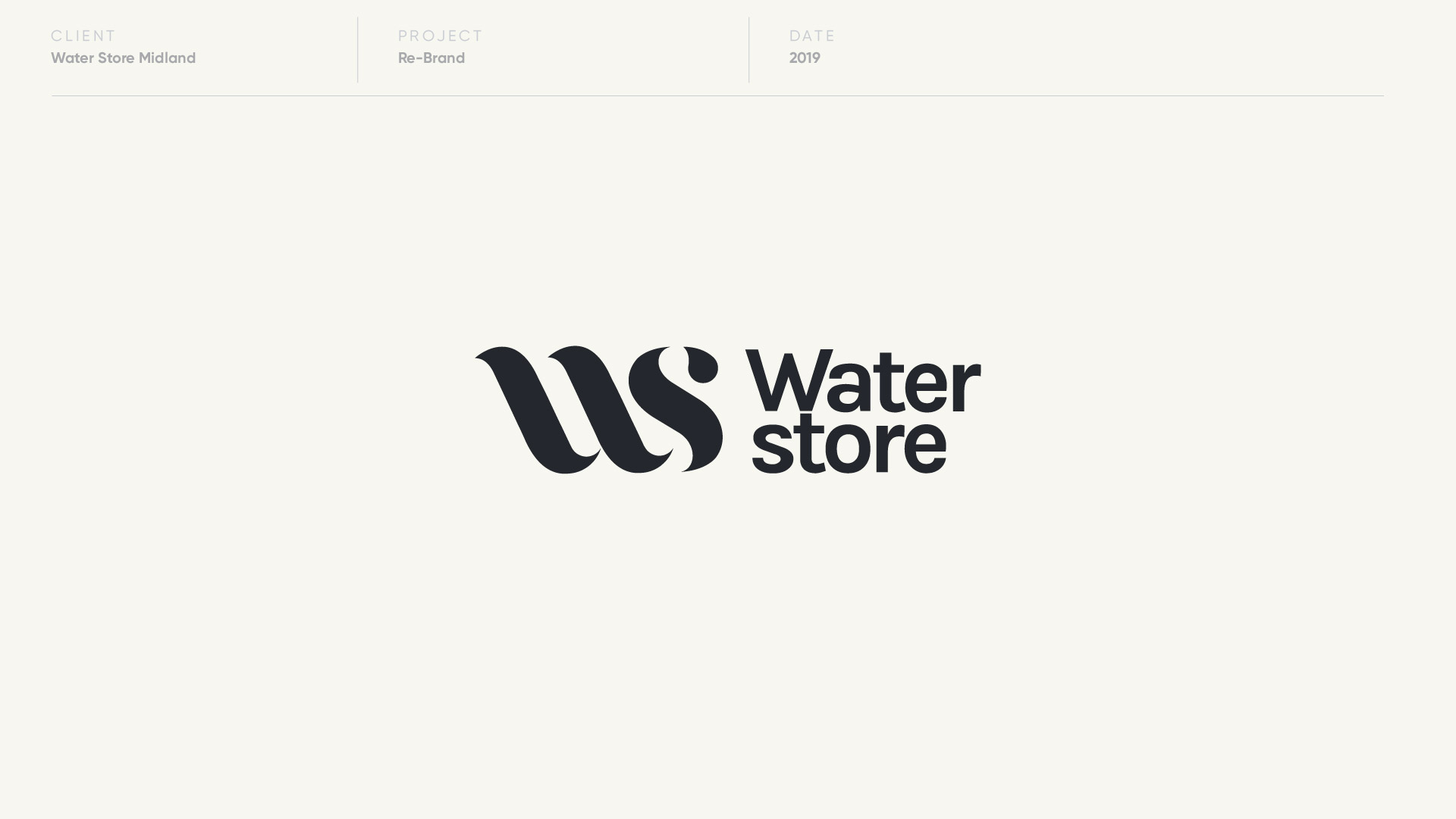 water store midland logo design by anthony mika