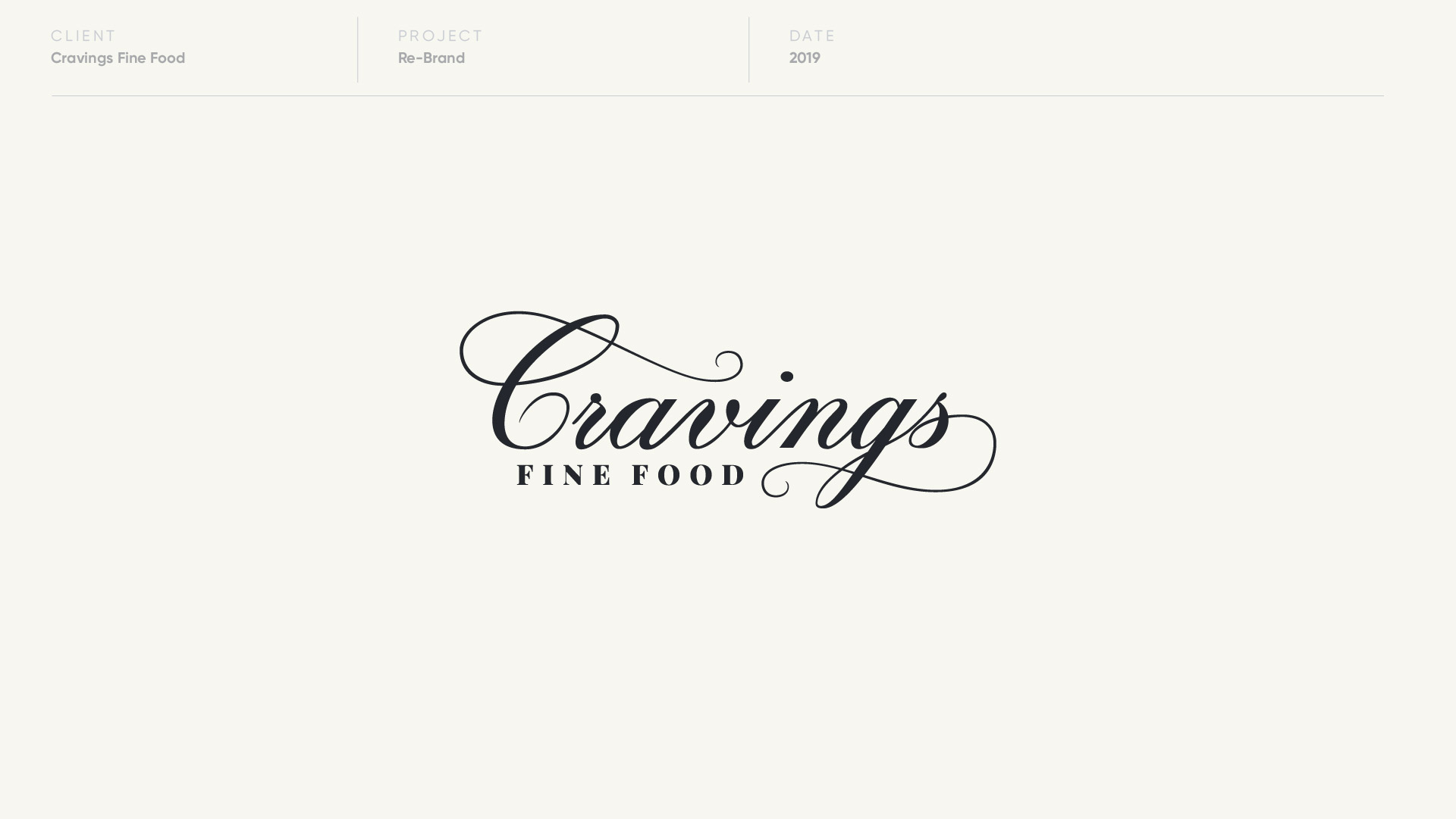 cravings fine food logo design by anthony mika