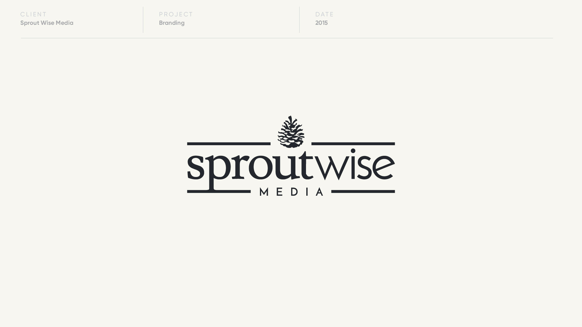sprout wise media logo design by anthony mika