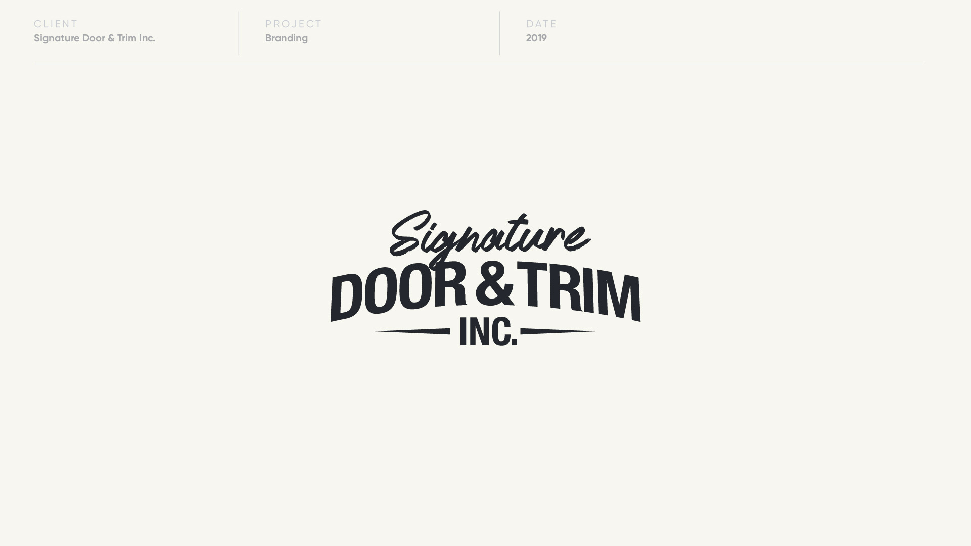 signature door and trim logo design by anthony mika