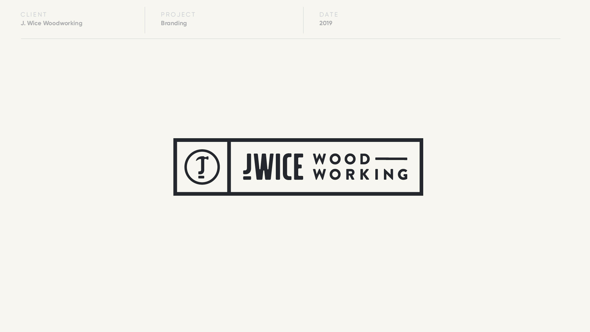 j wice woodworking logo design by anthony mika