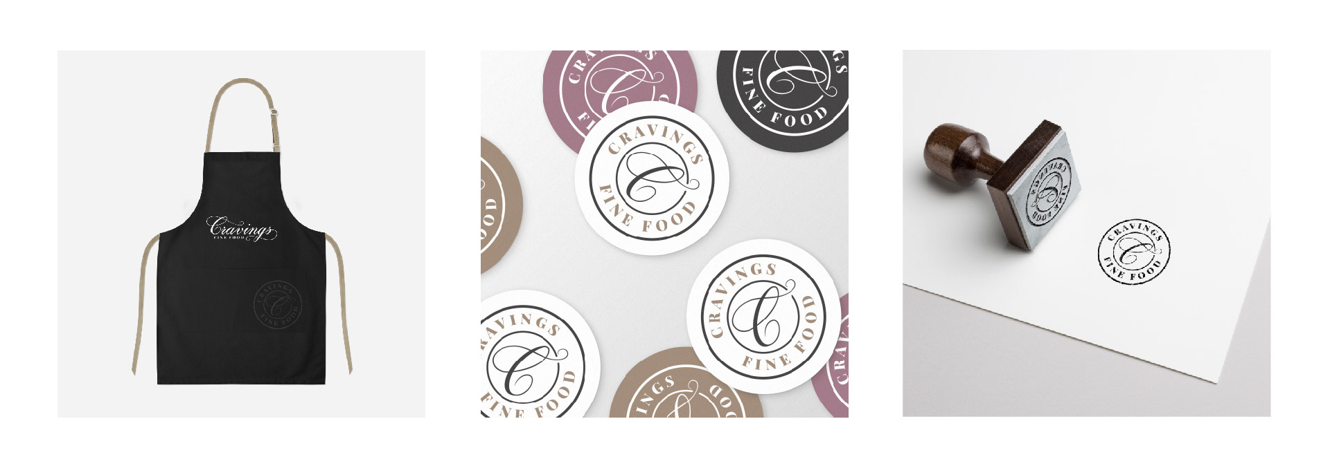 cravings fine food apron stickers and stamp