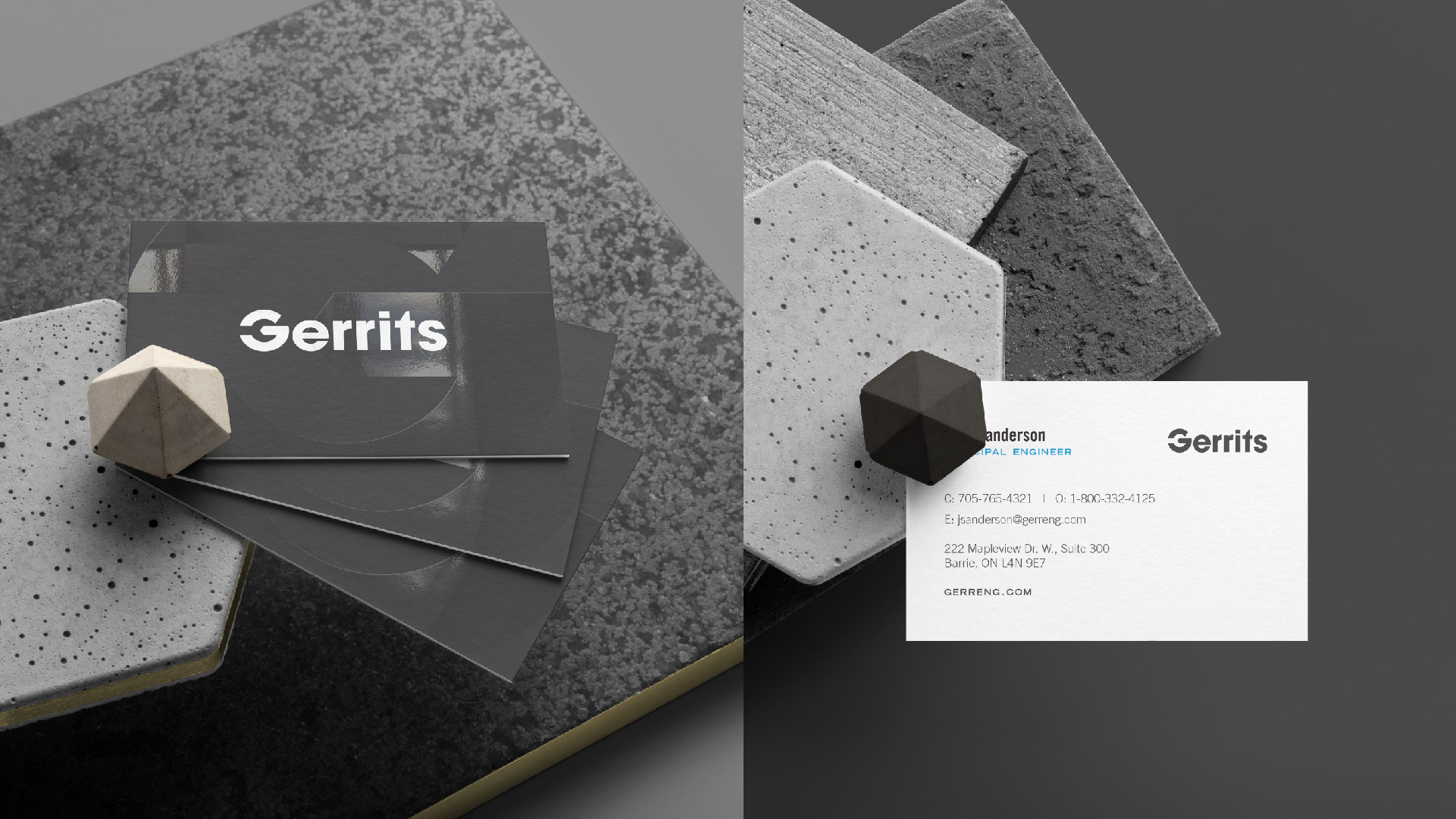 gerrits engineering business card design mockup