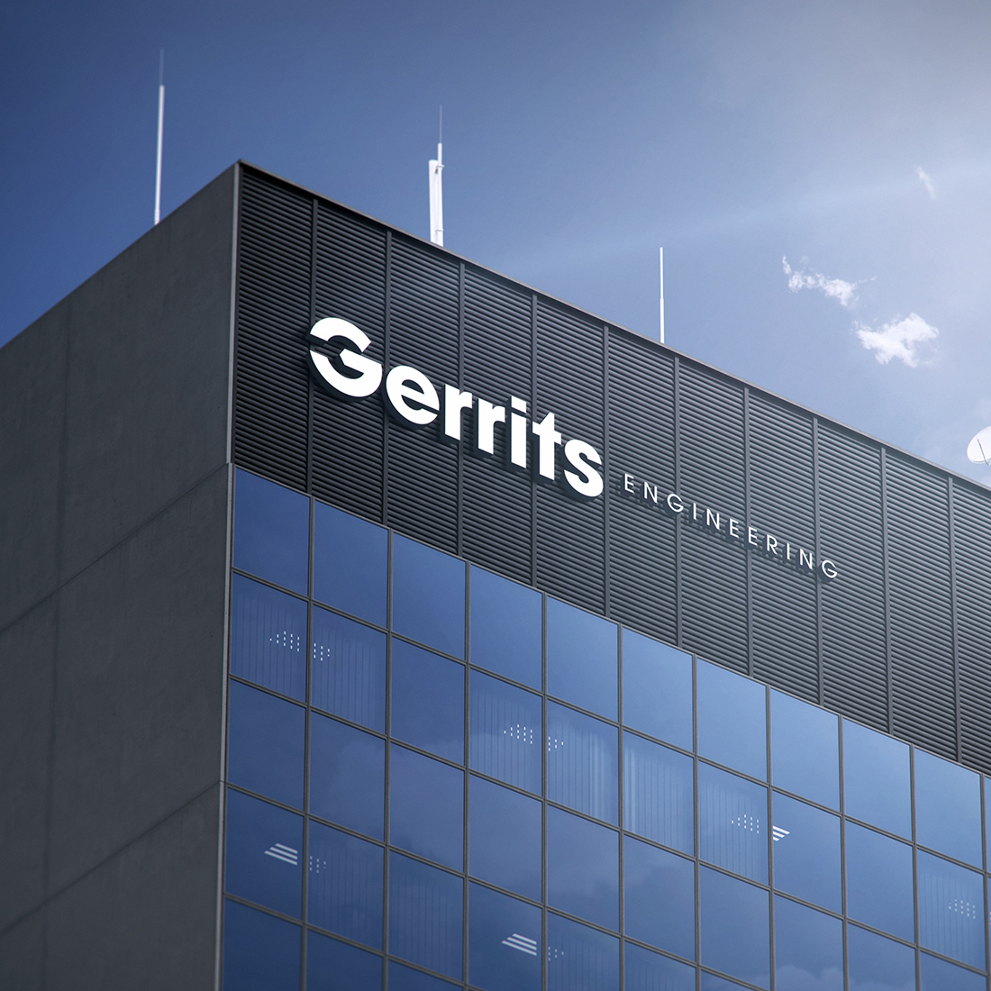 gerrits engineering building signage branding case study tile
